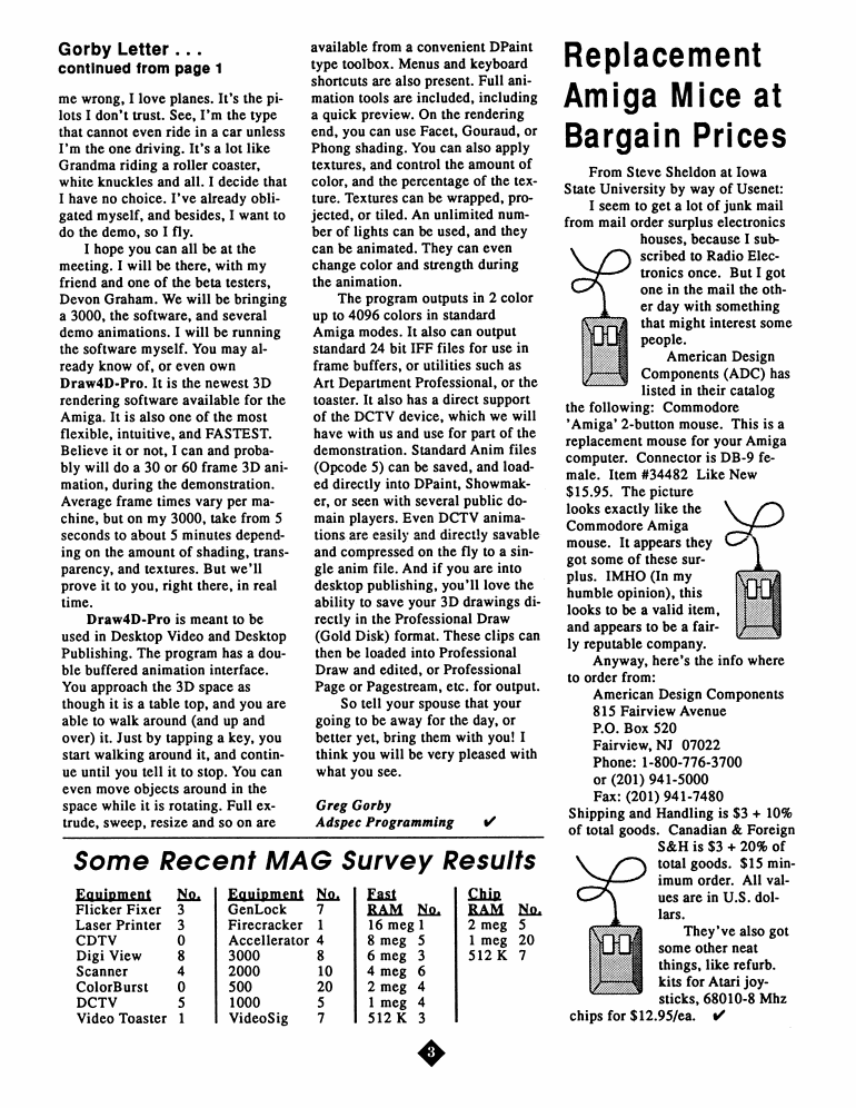 October 1991 MAGazine Page 3
