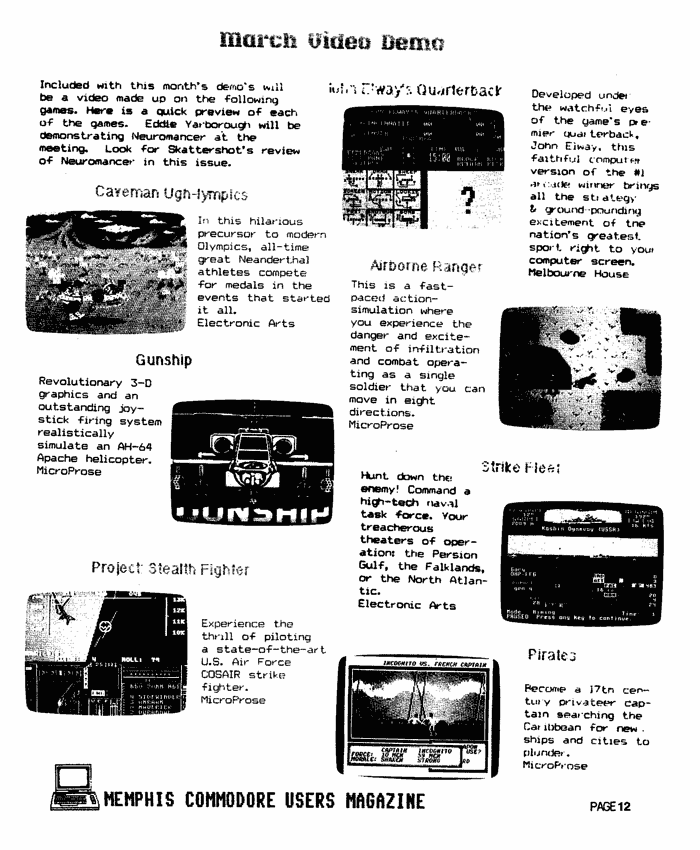 March 1989 MCU Magazine Page 12